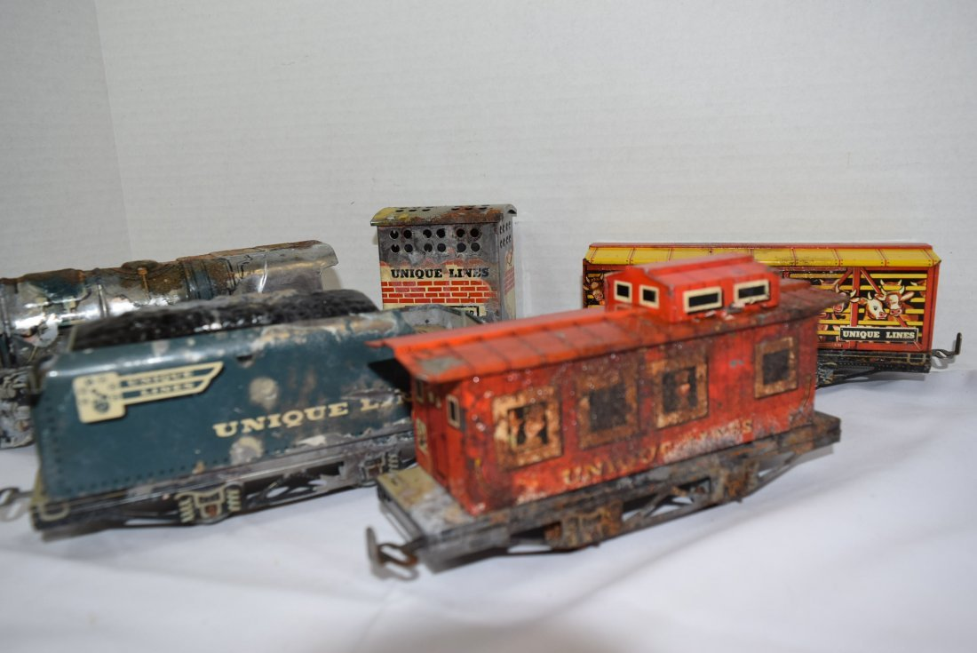 UNIQUE ART CIRCUS TRAIN SET IN ORIGINAL BOX - 5