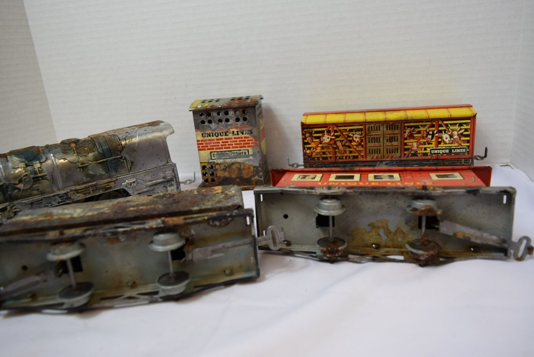 UNIQUE ART CIRCUS TRAIN SET IN ORIGINAL BOX - 7