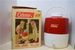 VINTAGE 1960S COLEMAN 2 GALLON JUG IN BOX