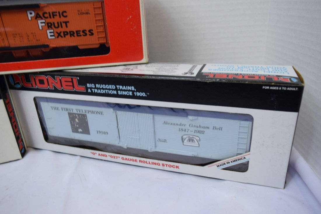 3 LIONEL ROLLING CARS NEW IN ORIGINAL BOXES - 4