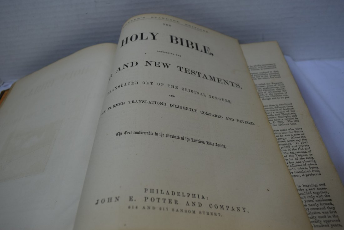 ANTIQUE HOLY BIBLE - 6