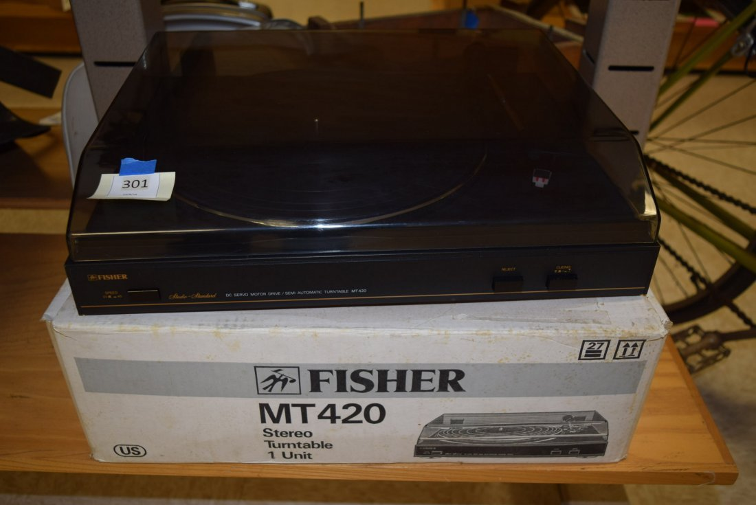NEW IN BOX VINTAGE FISHER TURNTABLE