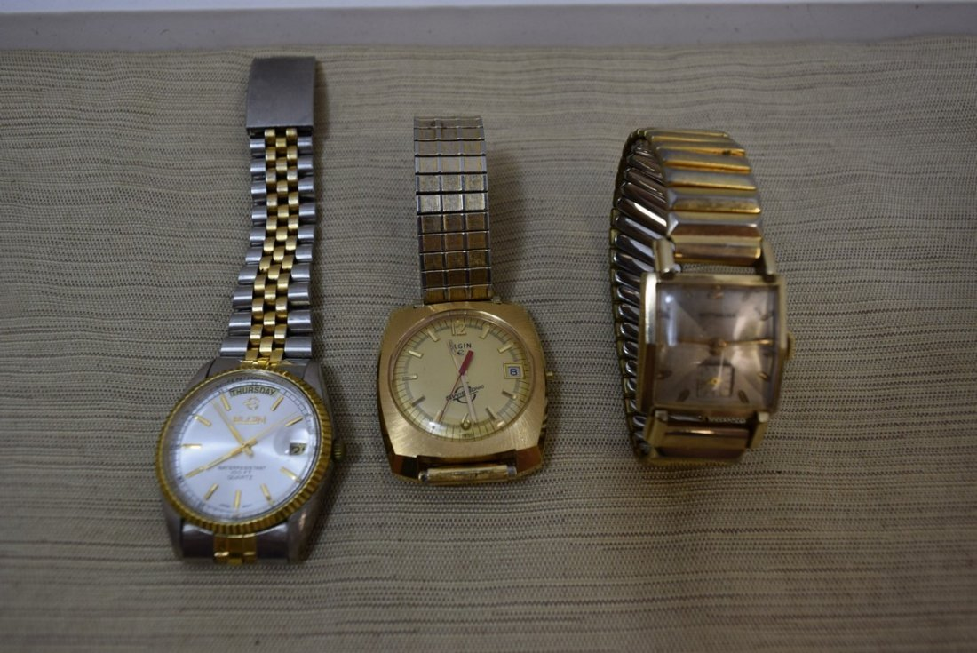 2 ELGIN AND 1 WITTNAUER WATCHES