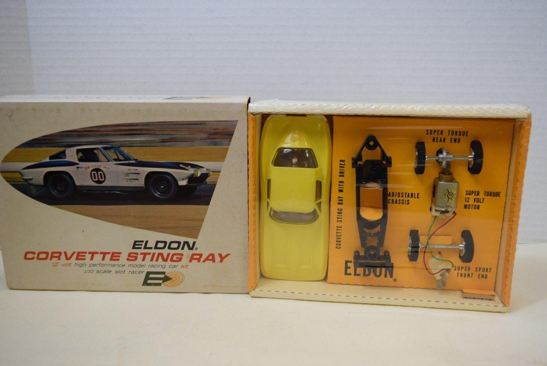 RARE ELDON YELLOW CORVETTE STING RAY SLOT CAR RACE