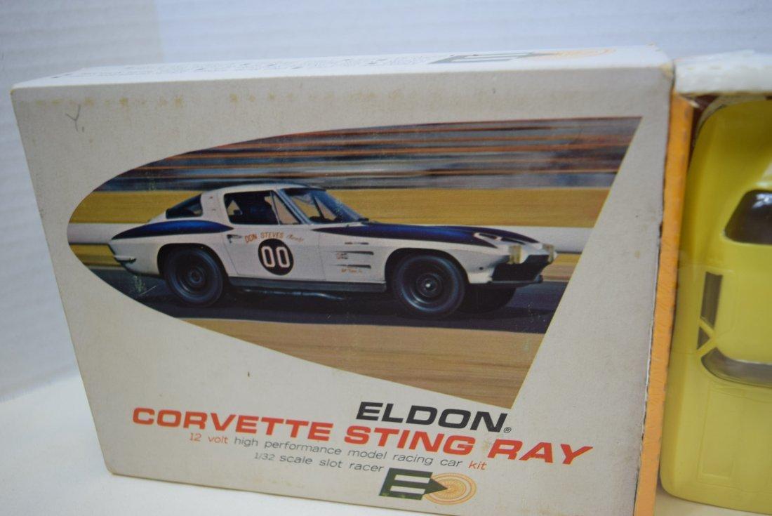 RARE ELDON YELLOW CORVETTE STING RAY SLOT CAR RACE - 3