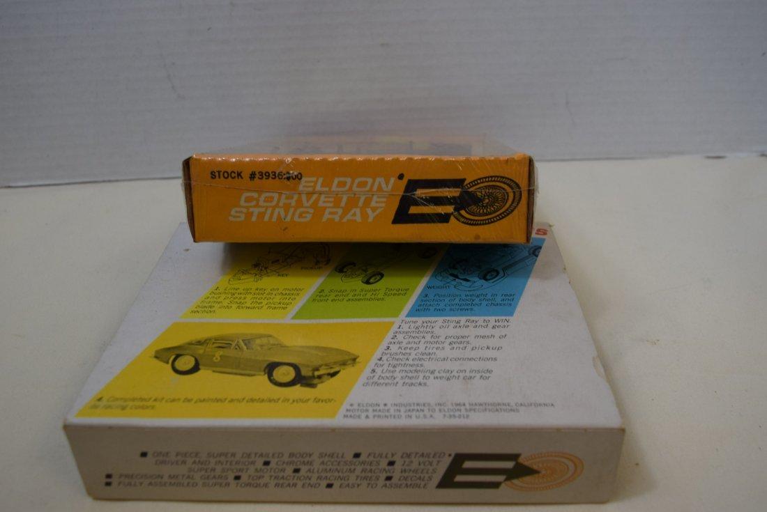 RARE ELDON YELLOW CORVETTE STING RAY SLOT CAR RACE - 4