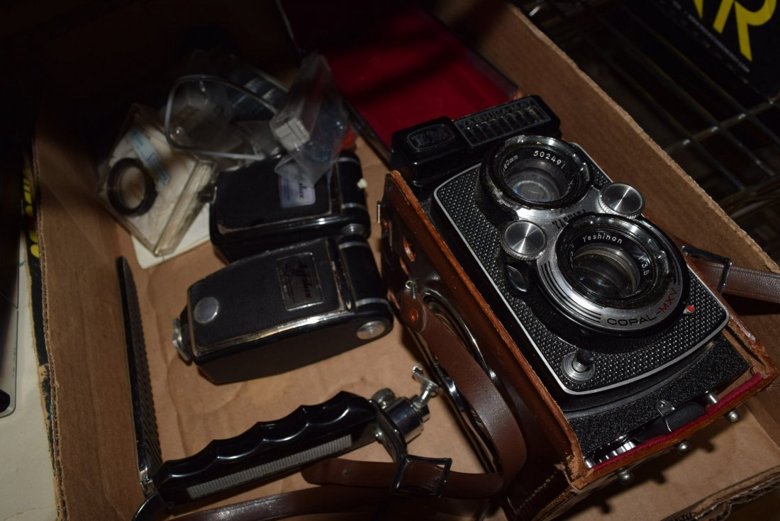 TWO VINTAGE CAMERAS - POLAROID AND VINTAGE YASHICA - 3