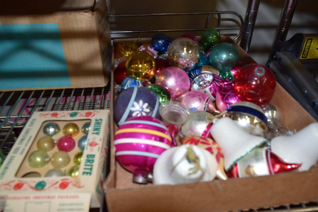 CHRISTMAS GLASS ORNAMENTS AND VINTAGE VINYL XMAS T - 2
