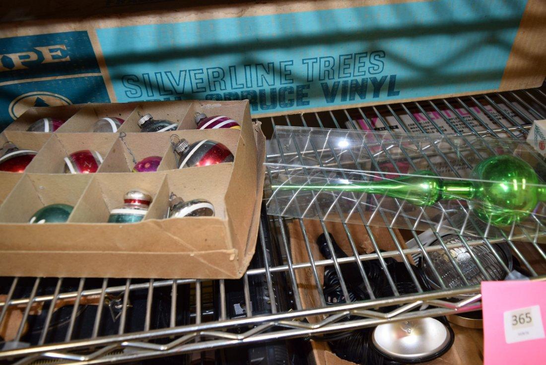 CHRISTMAS GLASS ORNAMENTS AND VINTAGE VINYL XMAS T - 3