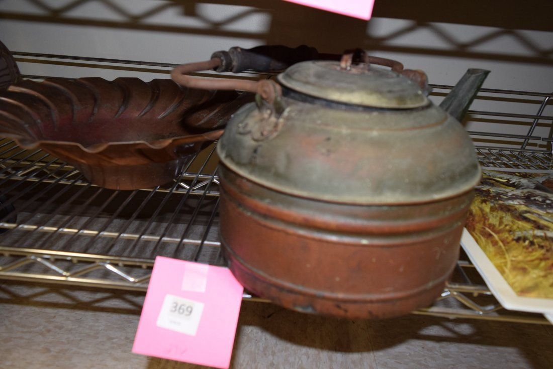 COPPER TEAPOT; BOWL AND MORE - 2