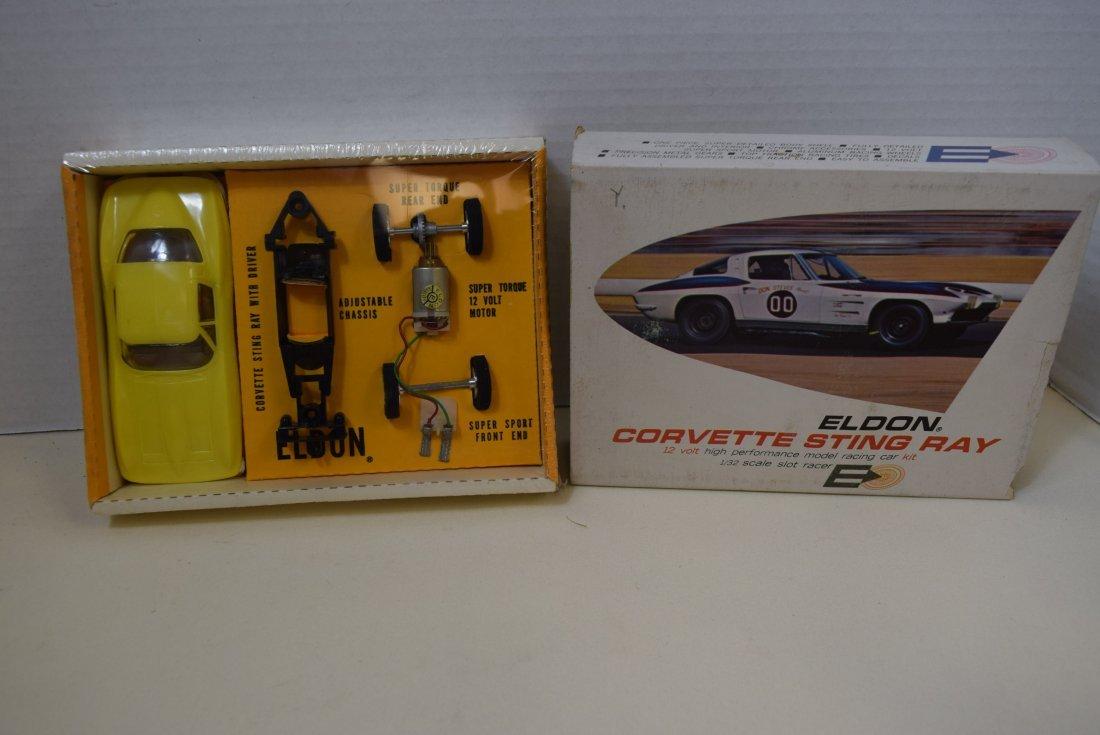 ELDON YELLOW CORVETTE STING RAY SLOT CAR RACER - N