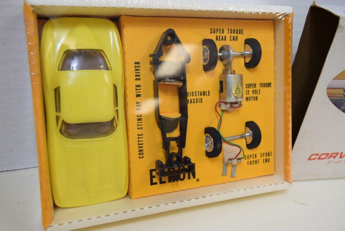 ELDON YELLOW CORVETTE STING RAY SLOT CAR RACER - N - 2