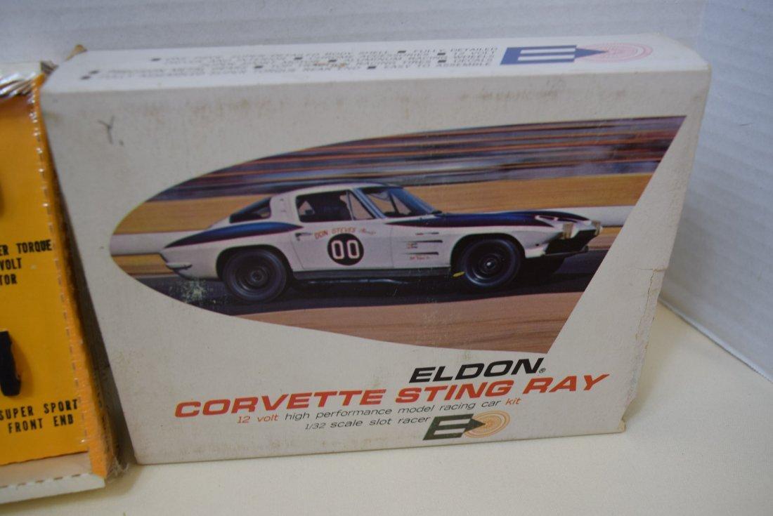 ELDON YELLOW CORVETTE STING RAY SLOT CAR RACER - N - 3