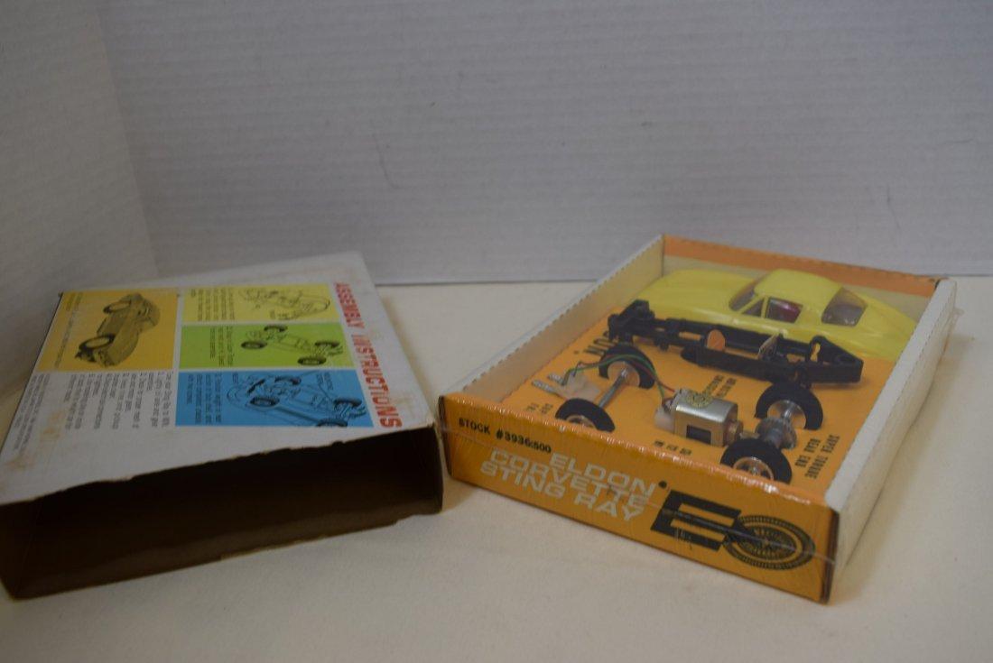 ELDON YELLOW CORVETTE STING RAY SLOT CAR RACER - N - 6