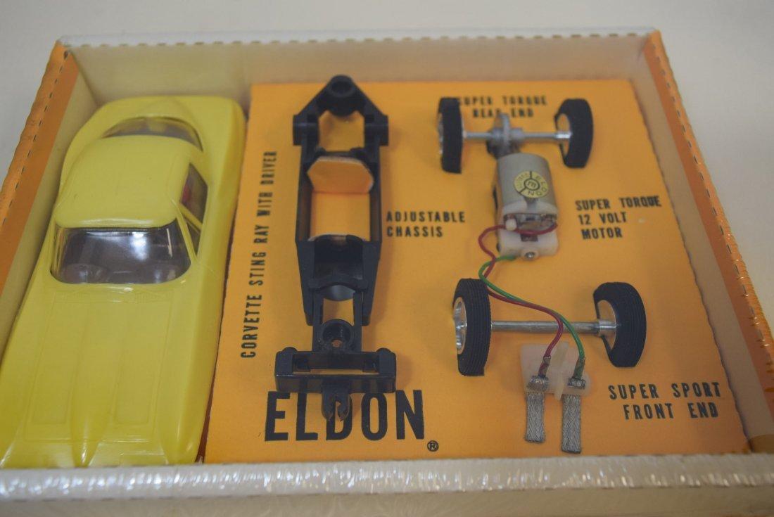 ELDON YELLOW CORVETTE STING RAY SLOT CAR RACER - N - 7