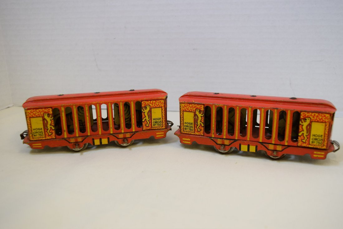 2 VERY RARE HOGE ANIMATED CIRCUS CARS