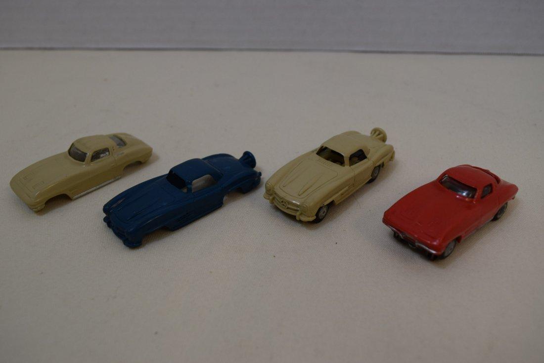 VINTAGE SLOT CARS BY LIONEL; MERCEDES AND CORVETTE