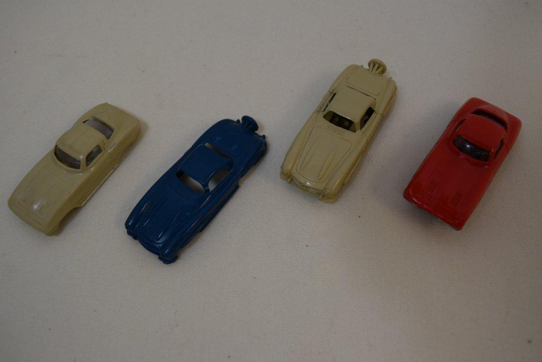 VINTAGE SLOT CARS BY LIONEL; MERCEDES AND CORVETTE - 2