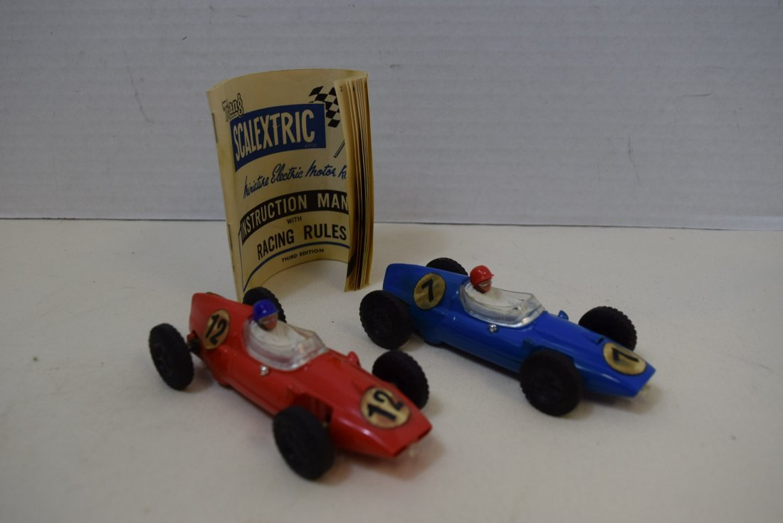 2 VINTAGE SCALECTRIC COOPERS BY TRI-ANG