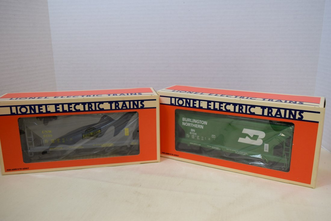 LIONEL TWO-BAY HOPPERS- NEW IN BOXES