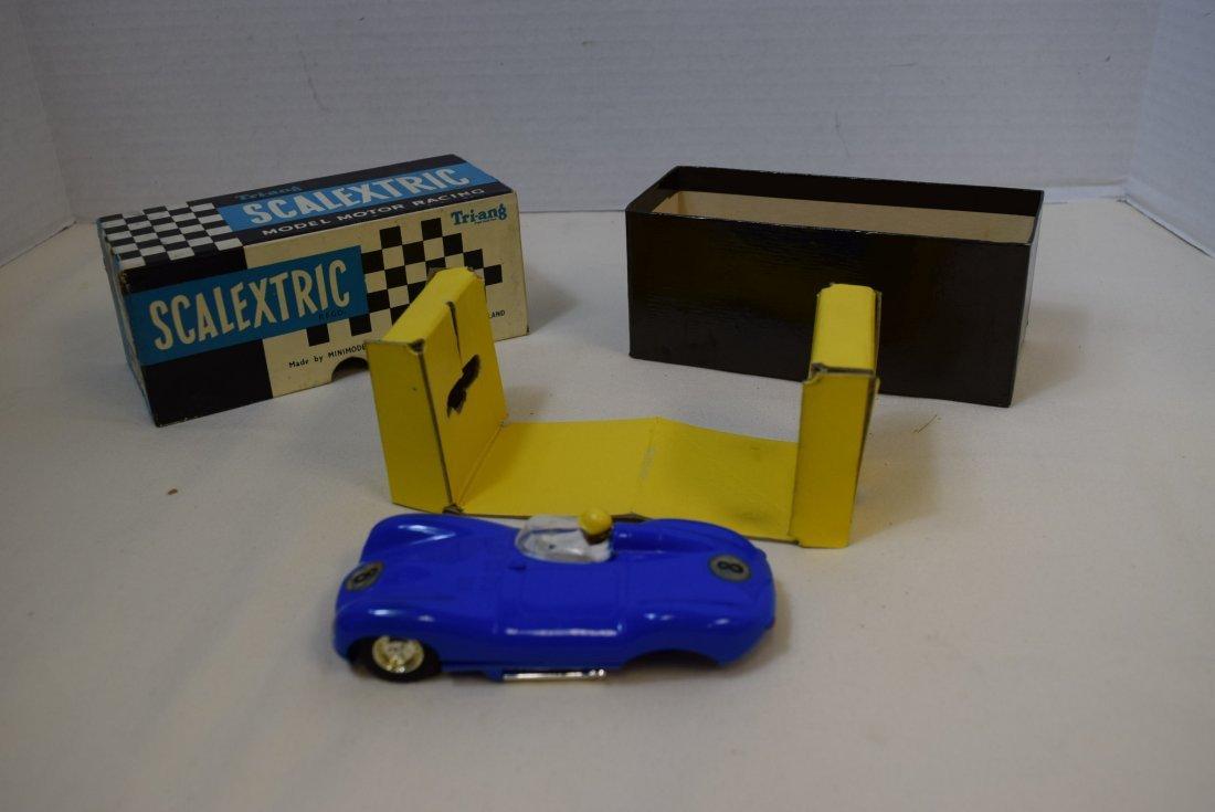 SCALEXTRIC LISTER JAGUAR SLOT CAR RACER IN ORIGINA