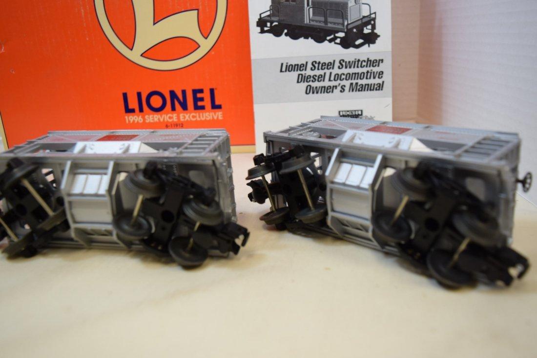 LIONEL STEEL SWITCHER DIESEL LOCOMOTIVE 57 WITH TW - 4