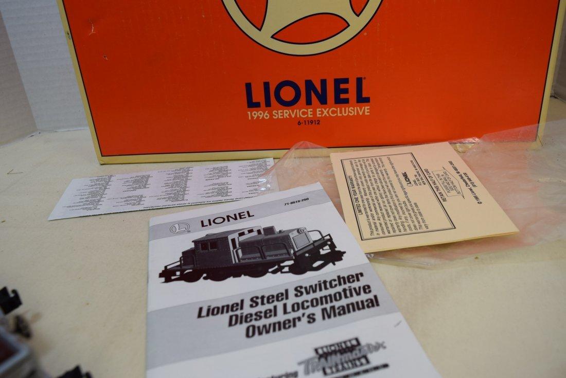 LIONEL STEEL SWITCHER DIESEL LOCOMOTIVE 57 WITH TW - 7