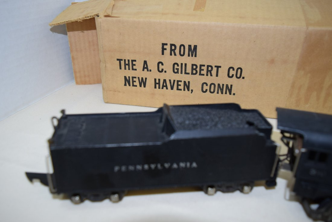 1940S AMERICAN FLYER LOCOMOTIVE AND TENDER IN ORIG - 2