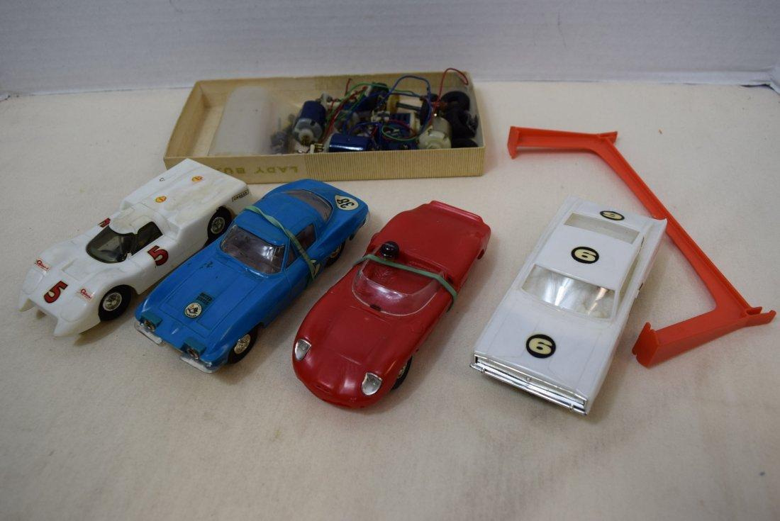 4 ELDON SLOT CARS & SERVICE PARTS