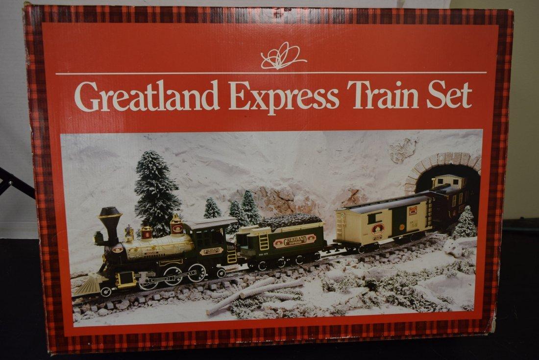 NIB GREATLAND EXPRESS CHRISTMAS TRAIN SET