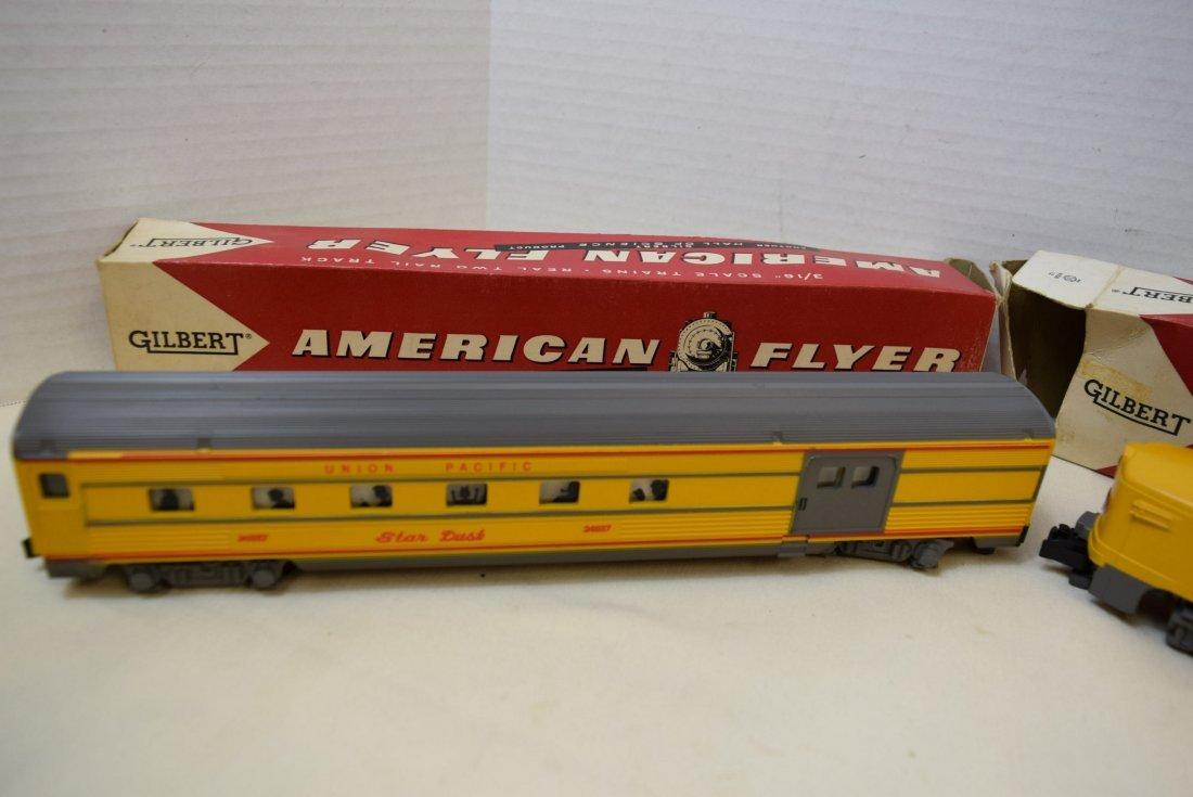 AMERICAN FLYER DUMMY WITH BELL CAR  & BAGGAGE & CL - 3