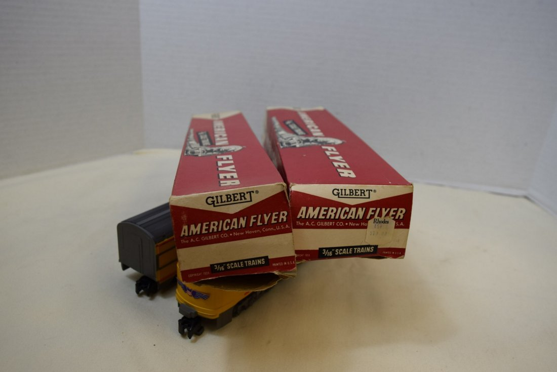 AMERICAN FLYER DUMMY WITH BELL CAR  & BAGGAGE & CL - 6
