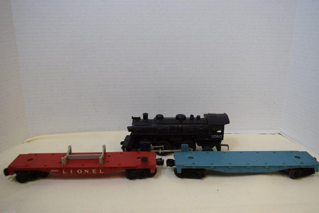 LIONEL LOCOMOTIVE 1060 & 5 TRAINS CARS - 5