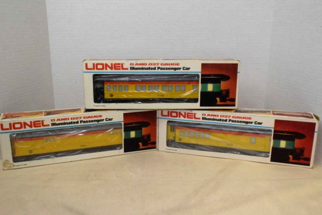 3 LIONEL CHESSIE STEAM SPECIAL ROLLING CARS - NIB