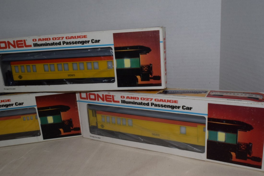 3 LIONEL CHESSIE STEAM SPECIAL ROLLING CARS - NIB - 2