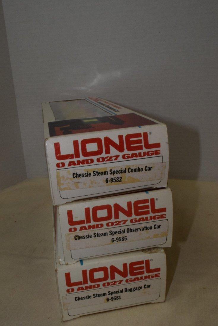 3 LIONEL CHESSIE STEAM SPECIAL ROLLING CARS - NIB - 4