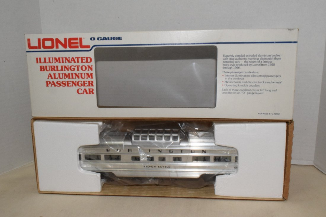 LIONEL O-GAUGE ILLUMINATED BURLINGTON ALUMINUM PAS