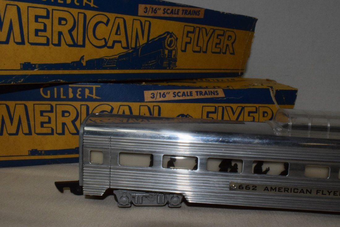 AMERICAN FLYER TRAIN ILLUMINATED PASSENGER CAR 662 - 2