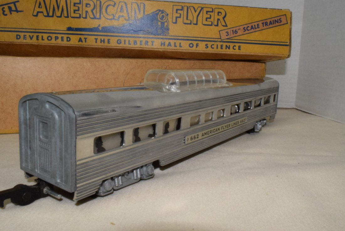 AMERICAN FLYER TRAIN ILLUMINATED PASSENGER CAR 662 - 7