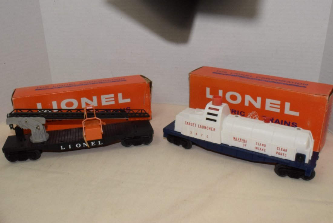 LIONEL TRAINS-AERIAL TARGET LAUNCHING CAR & CHERRY