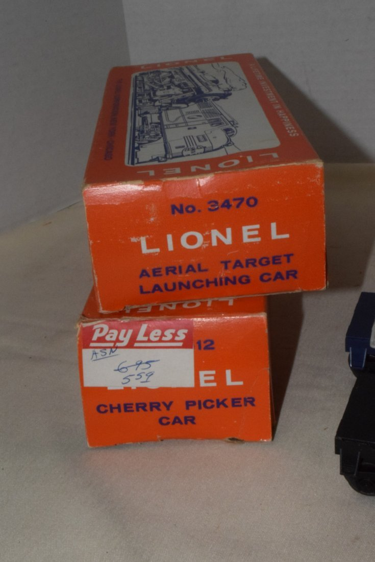 LIONEL TRAINS-AERIAL TARGET LAUNCHING CAR & CHERRY - 7