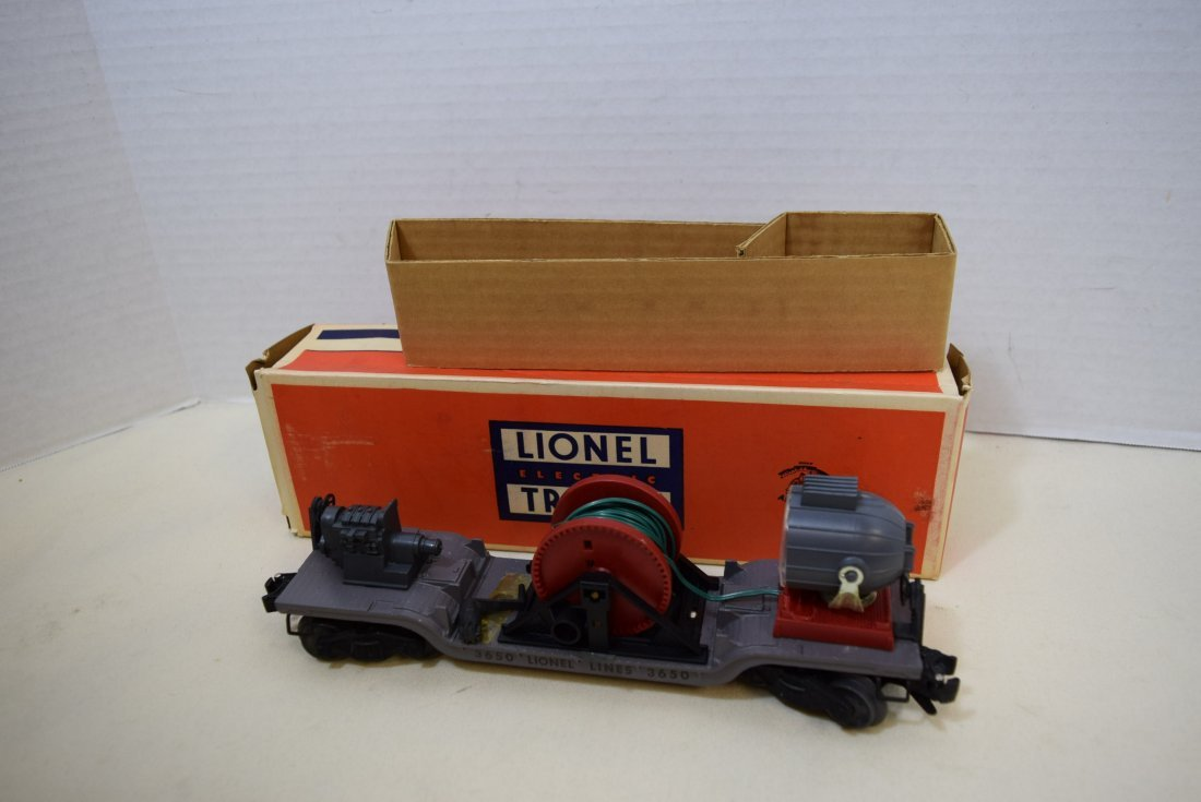 LIONEL SEARCHLIGHT EXTENSION CAR 3650 ORIGINAL BOX