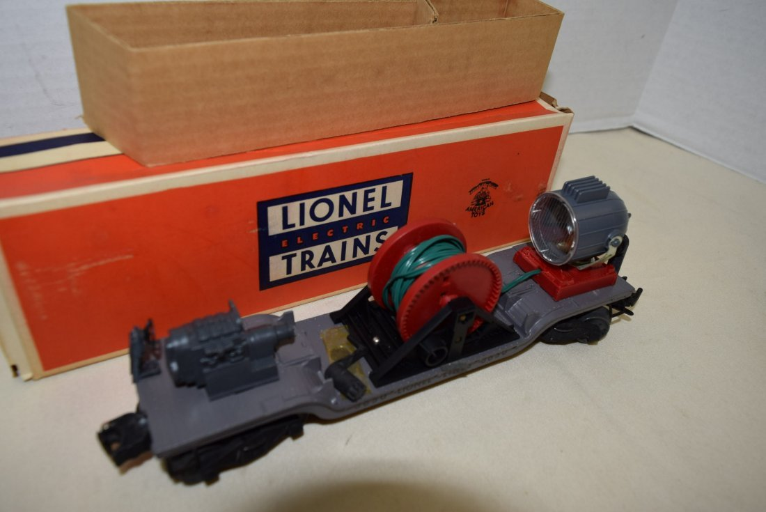 LIONEL SEARCHLIGHT EXTENSION CAR 3650 ORIGINAL BOX - 2