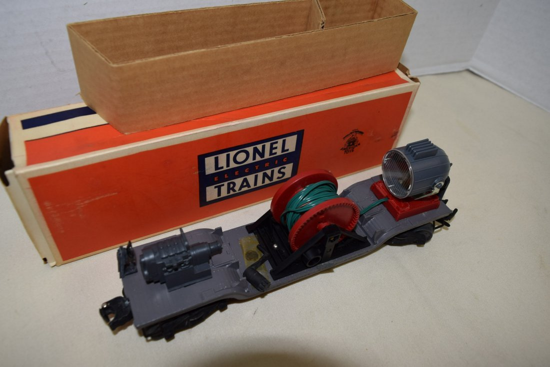 LIONEL SEARCHLIGHT EXTENSION CAR 3650 ORIGINAL BOX - 3