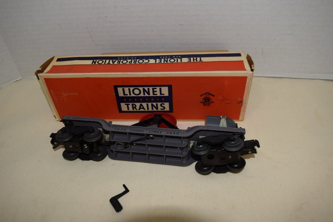LIONEL SEARCHLIGHT EXTENSION CAR 3650 ORIGINAL BOX - 4
