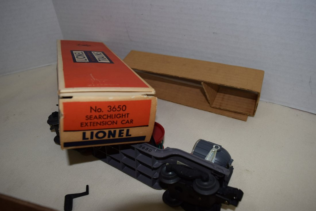 LIONEL SEARCHLIGHT EXTENSION CAR 3650 ORIGINAL BOX - 5