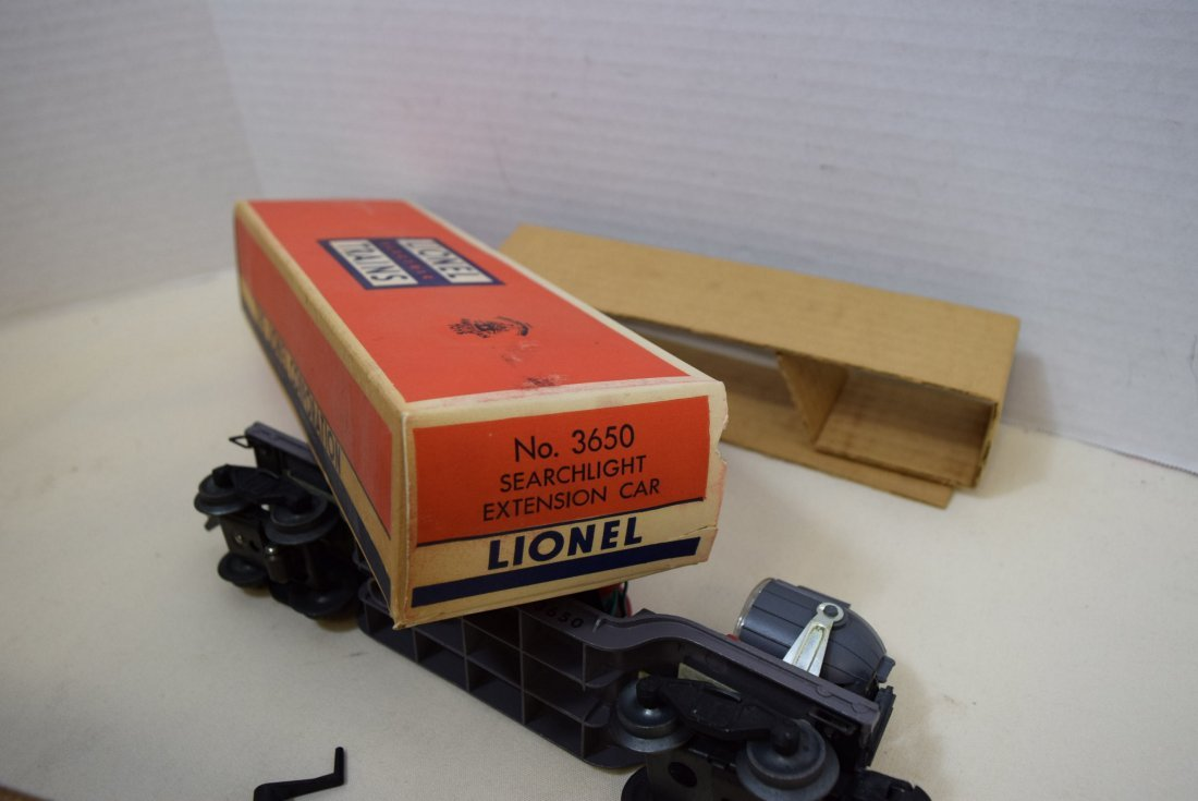 LIONEL SEARCHLIGHT EXTENSION CAR 3650 ORIGINAL BOX - 6