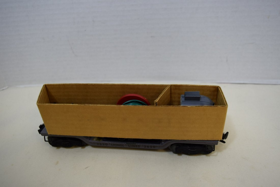 LIONEL SEARCHLIGHT EXTENSION CAR 3650 ORIGINAL BOX - 7