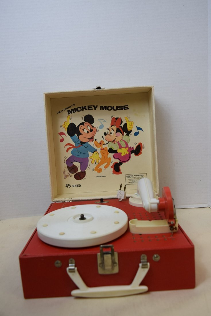 DISNEY MICKEY MOUSE ELECTRIC PHONOGRAPH BY PORTER
