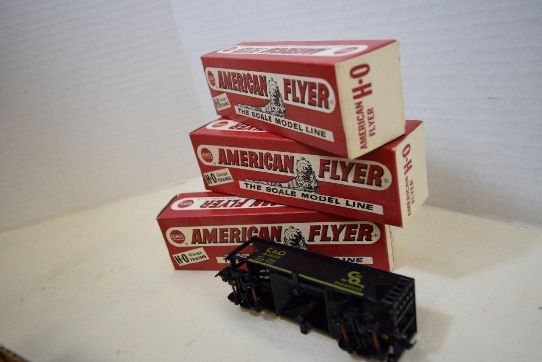 3 AMERICAN FLYER TRAIN  C & O GATE HOPPER CARS  NI - 2